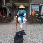 Ilusionismo no Calçadão das Flores em Curitiba