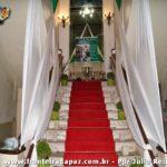 Escadaria da entrada ao Salão de Festas do Clube Comercial onde realizou-se o Baile em homenagem aos 50 anos dos Jogos Internacionais da Primavera