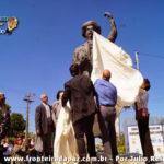 Inauguração da Estátua, localizada na entrada de Santana do Livramento, em homenagem ao ícone tradicionalista Paixão Cortez.