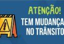 Atenção para as modificações no trânsito no dia 20