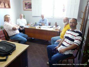 Visita da Equipe do Fronteira da Paz á Secretaria da Cultura Municipal de Santana do Livramento